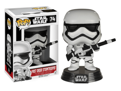 POP, Figura de Vinilo Coleccionable, Star Wars, First Order Stormtrooper, Nº74