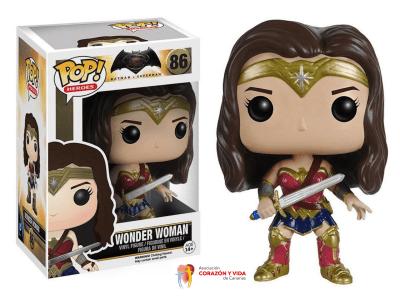 Wonder Woman Solidarity, POP Nº86, Collectible Vinyl Figure, DC Super Heroes