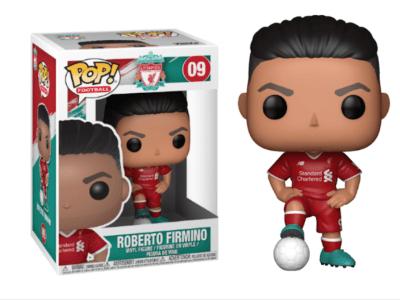 POP, Figura de Vinilo Coleccionable, Liverpool, Roberto Firmino, Nº09