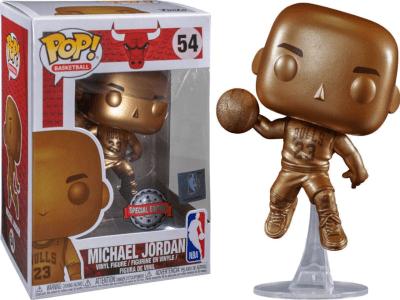 POP, Figura de Vinilo Coleccionable, Chicago Bull, Michael Jordan (Gold), Nº55