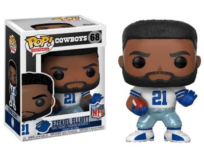 POP, Figura de Vinilo Coleccionable, NFL Cowboys, Ezequiel Elliott, Nº68
