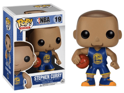 POP, Figura de Vinilo Coleccionable, NBA Golden State Warriors, Stephen Curry (Blue), Nº19