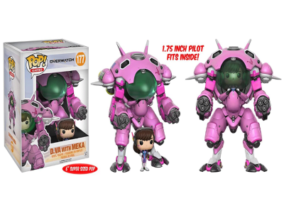 POP, Figura de Vinilo Coleccionable, Overwatch, D.Va with Meka (Big), Nº177