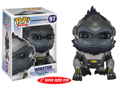 POP, Figura de Vinilo Coleccionable, Overwatch, Winston (Big), Nº97