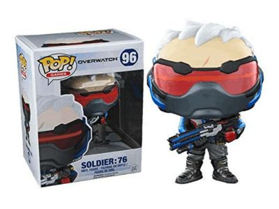 POP, Figura de Vinilo Coleccionable, Overwatch, Soldier: 76, Nº96