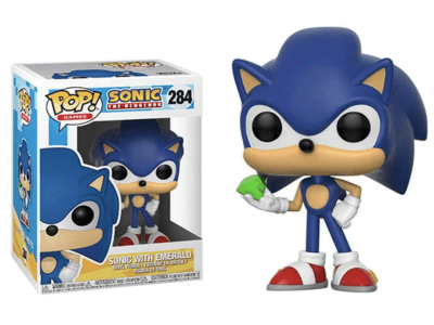 POP, Figura de Vinilo Coleccionable, Sonic, Sonic with Emerald, Nº284