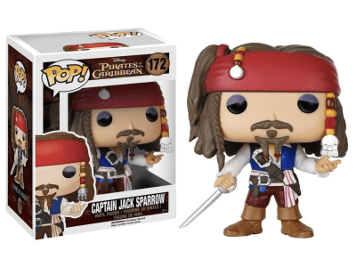 POP, Figura de Vinilo Coleccionable, Pirates of the Caribbean, Captain Jack Sparrow, Nº172