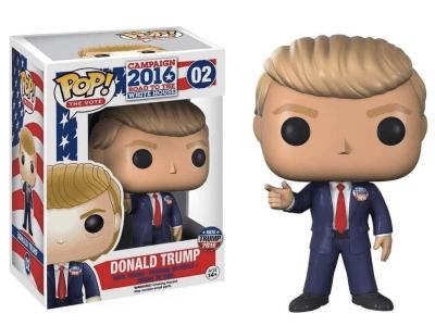 POP, Figura de Vinilo Coleccionable, Campaign 2016, Donald Trump, Nº02