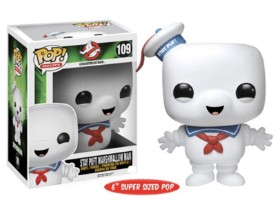 POP, Figura de Vinilo Coleccionable, Ghosbasters, Stay Puft Marshmallow Man (Happy), Nº109