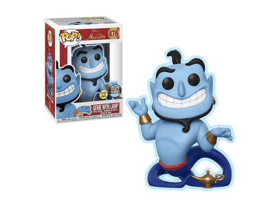 POP, Figura de Vinilo Coleccionable, Disney, Genie with Lamp, Nº476