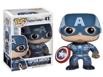 POP, Figura de Vinilo Coleccionable, Marvel, Captain America, Nº41