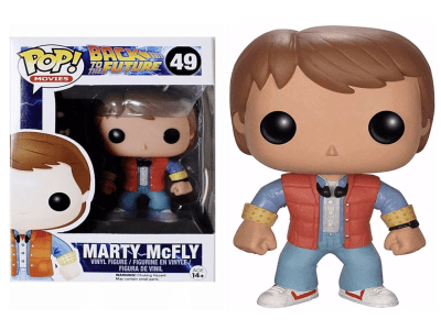 POP, Figura de Vinilo Coleccionable, Back to the Future, Marty McFly, Nº49