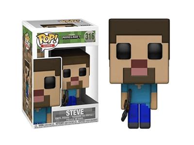 POP, Figura de Vinilo Coleccionable, Minecraft, Steve, Nº316