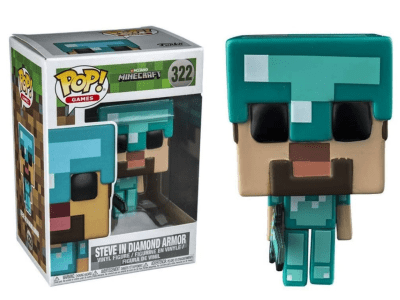 POP, Figura de Vinilo Coleccionable, Minecraft, Steve in Diamond Armor, Nº322