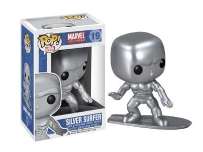 POP, Figura de Vinilo Coleccionable, Marvel, Silver Surfer, Nº19