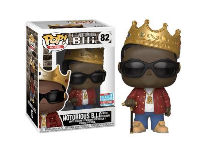 POP, Figura de Vinilo Coleccionable, The Notorious BIG., Notorious B.I.G. With Crown, Nº82