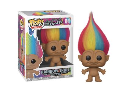 POP. Figura de Vinilo Coleccionable, Trolls, Rainbow Troll, Nº01