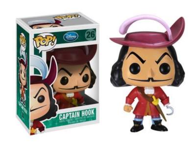 POP, Figura de Vinilo Coleccionable, Disney, Captain Hook, Nº26