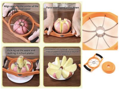 Fácil removedor y cortador de núcleo de manzana 2 en 1 en 8 rebanadas