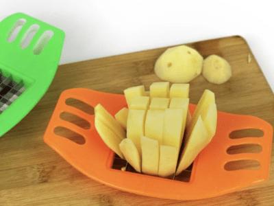 Herramienta para frutas y verduras, cortador de patatas fritas de acero inoxidable