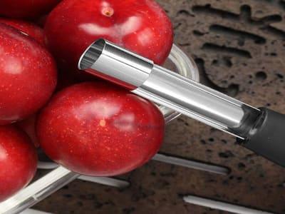 Removedor de núcleo de pera y manzana con mango de goma suave