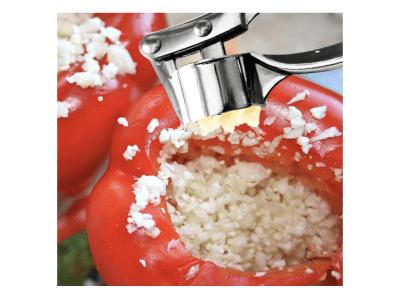 Trituradora de ajo de acero inoxidable, fácil de apretar, dispositivo para presionar y aplastar