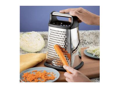 Rallador multifunción de verduras / queso de acero inoxidable con caja de almacenamiento