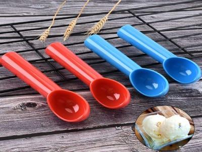 Cuchara de sandía; Cuchara de helado de plástico