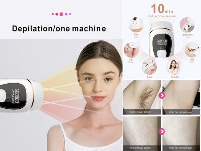 Depilación láser permanente segura para mujeres y hombres, 500000 flashes, rejuvenecimiento de la piel