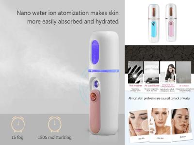 Mini rociador de niebla facial portátil; Cuidado diario fácil de la piel