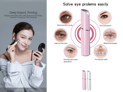 Stick masajeador de ojos con vibración sónica y térmica de 42 ℃, recargable por USB