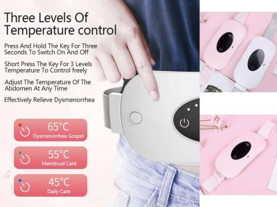 Cinturón de calor ajustable, calentamiento del útero, alivio del dolor lumbar y de la columna