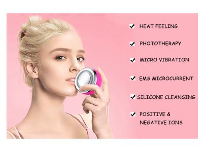 Ipx7 Cepillo facial recargable USB eléctrico a prueba de agua, Cepillo facial de silicona para limpi
