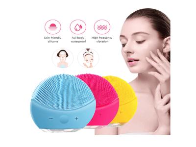 Cepillo de limpieza facial, cepillo facial vibratorio sónico resistente al agua para limpieza profunda, exfoliación suave y masaje