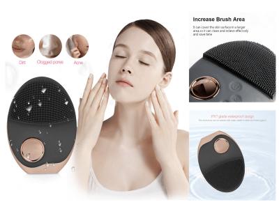 Cepillo facial eléctrico sónico de silicona resistente al agua para el cuidado de la piel de la cara, limpieza profunda ultrasónica