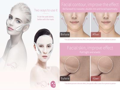 Masajeador facial inteligente EMS, dispositivo de estiramiento facial eléctrico en forma de V, anti envejecimiento, masaje facial, reducción de la papada, reafirmación de la piel