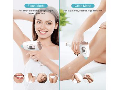 Depilación láser para mujeres y hombres, dispositivo de depilación IPL permanente, indoloro, con modo de hielo, para rostro, axilas, zona del bikini, depilación de todo el cuerpo, 2 modos