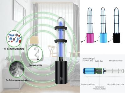 Nueva lámpara germicida desinfectante fuerte UV + ozono, lámpara portátil germicida UVC 32w