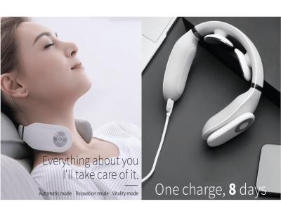Masajeador de cuello inteligente con función de calentamiento, equipo de masaje de cuello 3D inalámbrico con control remoto