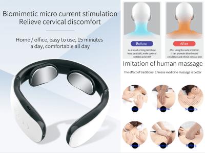 Masajeador de cuello de pulso eléctrico, de tejido profundo inteligente para el dolor del músculo cervical, Alivio de la fatiga rígida