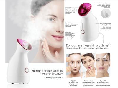 Vaporizador facial Nano Ionic caliente, humectante, limpia los poros, humidificador de vapor facial,