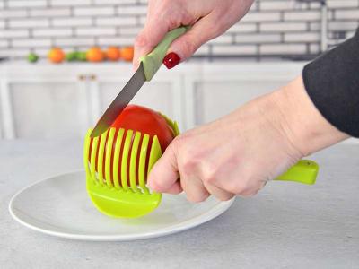 Cortador de rebanador de plástico de grado alimenticio ecológico para frutas y verduras como limón,
