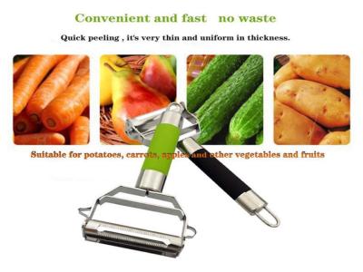 Pelador y cortador multifuncional de frutas y verduras de acero inoxidable