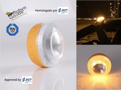Luz Emergencia V16 Homologada, LED, Señal de Pre-Señalización de Peligro + Linterna, Homologado, Reg