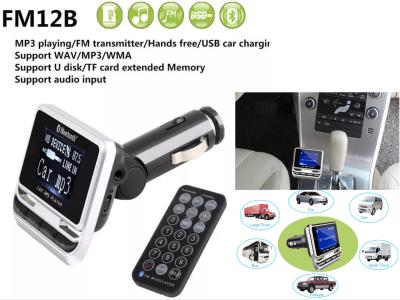 1,44 pulgadas LCD Auto Radio Reproductor de MP3. Adaptador de música. Cargador de coche USB. Manos libres Bluetooth Kit de coche. Transmisor de FM Control remoto