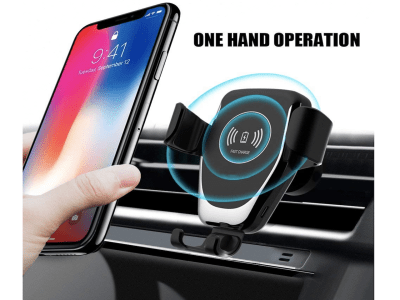 Cargador de coche inalámbrico automático. Gravity Qi 10w para iPhone 11 XS XR X 8 10W. Soporte de teléfono de carga rápida para Samsung S10 S9
