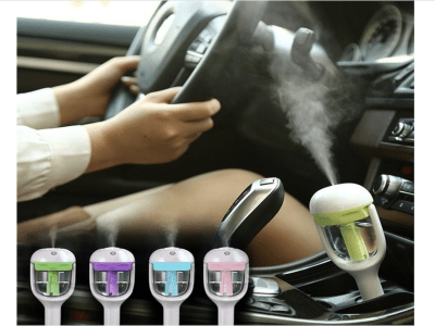 50ml ambientador purificador de aire fresco, niebla ultrasónica, vapor mini aroma, difusor humidificador de coche