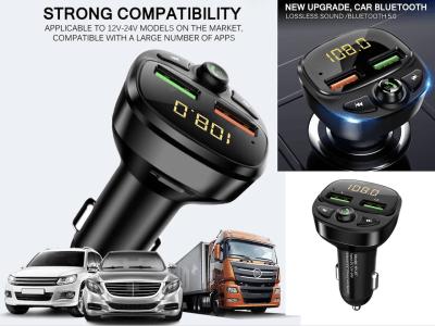 Auto Radio Reproductor de MP3. Adaptador de música Cargador de coche USB dual. Kit de coche manos libres Bluetooth. Transmisor FM