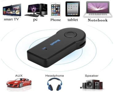 Transmisor Bluetooth Receptor Portátil Inalámbrico 3.5mm AUX Música Car Audio Receptor Bluetooth para Car, TV, PC