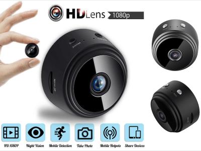 Mini cámara inalámbrica A9 2.4GHz WiFi 1080P. Cámara de seguridad para el hogar. Visión nocturna. Cámara de video de detección de movimiento remota inalámbrica